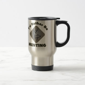 I'd Rather Be Hunting Hunter Logo Travel Mug