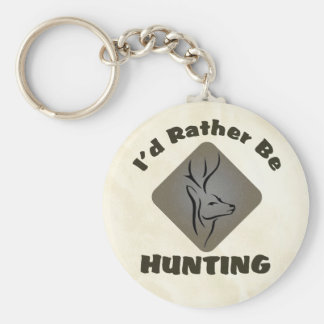 I'd Rather Be Hunting Logo Keychain