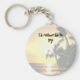 I'd Rather Be in a Tropical Island Keychain