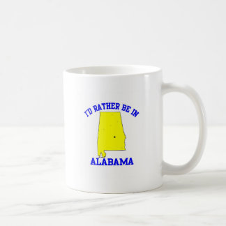 Id Rather Be In Alabama Classic White Coffee Mug