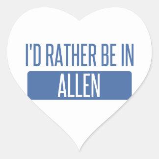 I'd rather be in Allen Heart Sticker