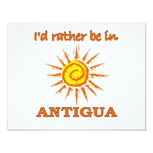 I'd Rather Be in Antigua Announcement