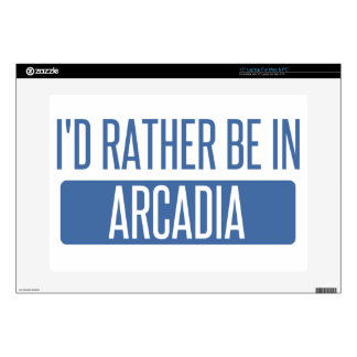 """I'd rather be in Arcadia 15"""" Laptop Skins"""