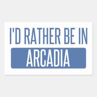 I'd rather be in Arcadia Rectangular Sticker