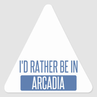 I'd rather be in Arcadia Triangle Sticker