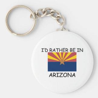 I'd rather be in Arizona Keychain
