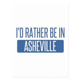 I'd rather be in Asheville Postcard