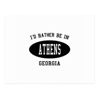 I'd Rather Be in Athens, Georgia Postcard