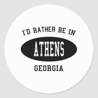 I'd Rather Be in Athens, Georgia Sticker