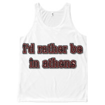 I'd Rather Be in Athens Tank, XL All-Over-Print Tank Top