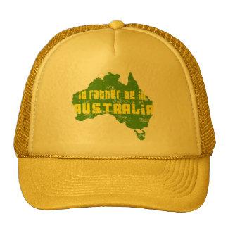 Id rather be in australia Cap Mesh Hats