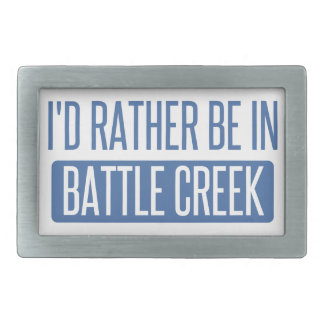 I'd rather be in Battle Creek Belt Buckle