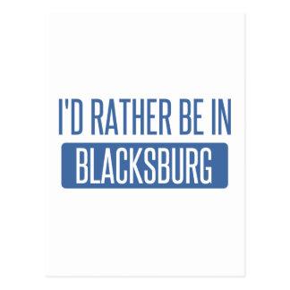 I'd rather be in Blacksburg Postcard
