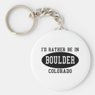Id Rather Be in Boulder, Colorado Basic Round Button Keychain