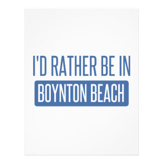 I'd rather be in Boynton Beach Letterhead