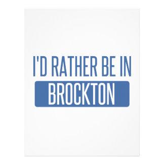 I'd rather be in Brockton Letterhead