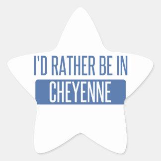I'd rather be in Cheyenne Star Sticker