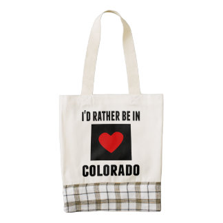 I'd Rather Be In Colorado Zazzle HEART Tote Bag