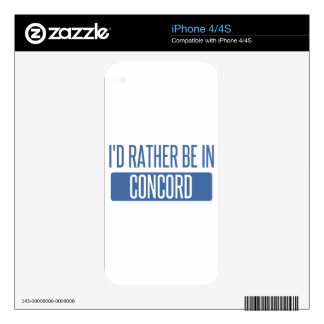 I'd rather be in Concord CA Decal For iPhone 4