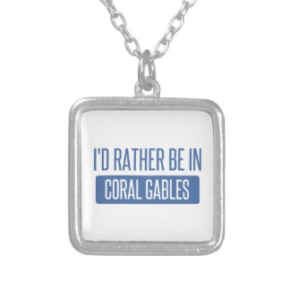 I'd rather be in Coral Gables Silver Plated Necklace