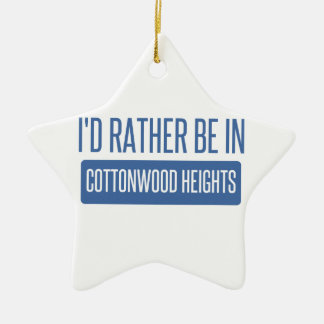I'd rather be in Cottonwood Heights Ceramic Ornament
