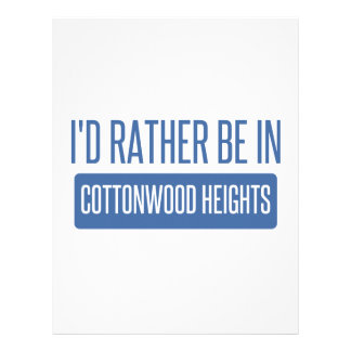 I'd rather be in Cottonwood Heights Letterhead