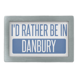 I'd rather be in Danbury Rectangular Belt Buckle