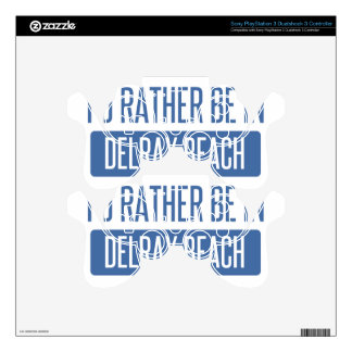 I'd rather be in Delray Beach PS3 Controller Decal