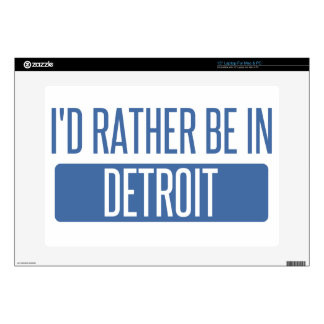 I'd rather be in Detroit Laptop Decal