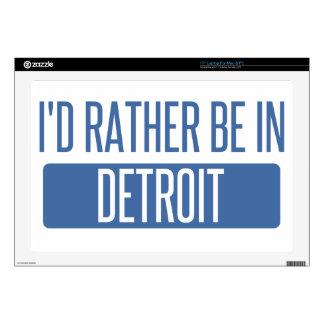 I'd rather be in Detroit Laptop Skin