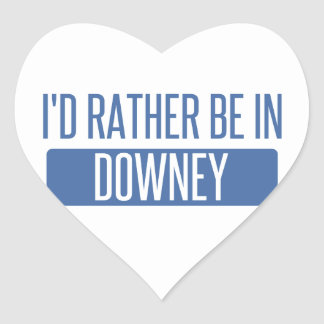 I'd rather be in Downey Heart Sticker