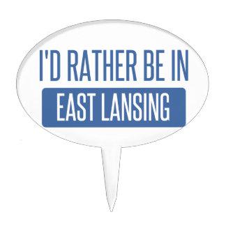 I'd rather be in East Lansing Cake Topper