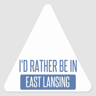 I'd rather be in East Lansing Triangle Sticker