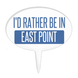 I'd rather be in East Point Cake Topper