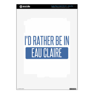 I'd rather be in Eau Claire iPad 3 Decals