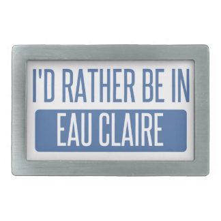 I'd rather be in Eau Claire Rectangular Belt Buckle