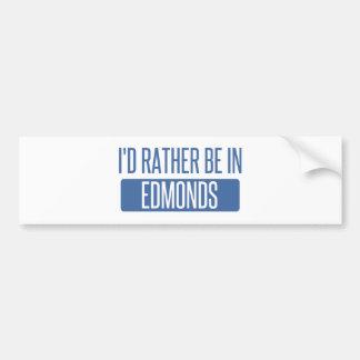 I'd rather be in Edmonds Bumper Sticker