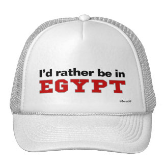 I'd Rather Be In Egypt Trucker Hat