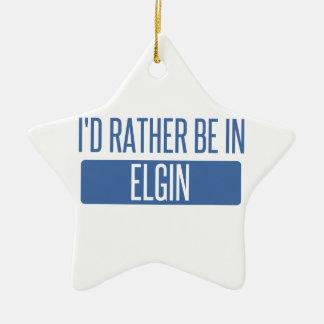 I'd rather be in Elgin Ceramic Ornament