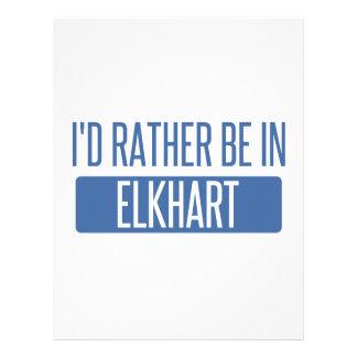 I'd rather be in Elkhart Letterhead
