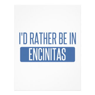 I'd rather be in Encinitas Letterhead