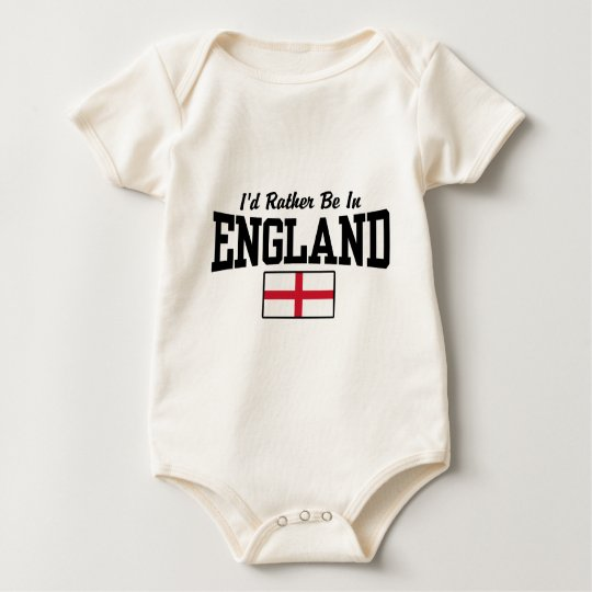 I'd Rather Be In England Baby Bodysuit