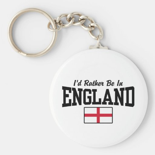 I'd Rather Be In England Basic Round Button Keychain