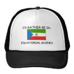 I'd rather be in Equatorial Guinea Mesh Hats