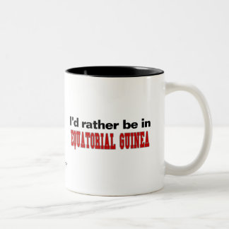 I'd Rather Be In Equatorial Guinea Two-Tone Coffee Mug