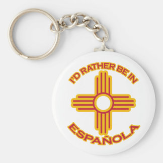 I'd Rather Be In Española Keychain