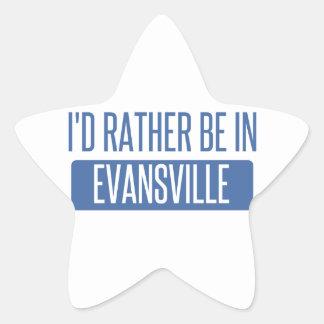 I'd rather be in Evansville Star Sticker