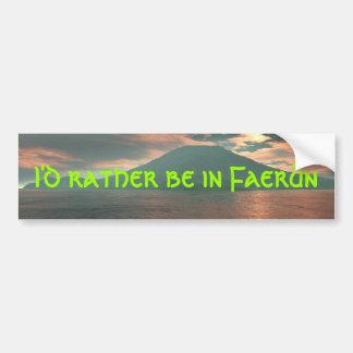 I'd Rather Be In Faerun Car Bumper Sticker