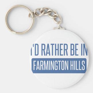 I'd rather be in Farmington Hills Keychain
