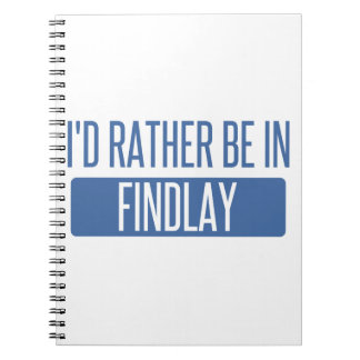 I'd rather be in Findlay Notebook